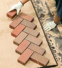 Set brick with mallet