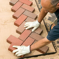 Set brick with malletSet brick with mallet