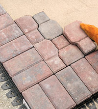 Lay full paver
