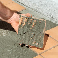 Check mortar adhesion