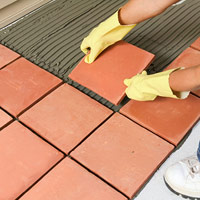 Lay more tile in first section