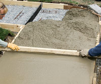 Pouring a Concrete Walk