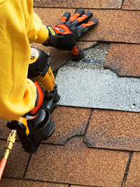Repair broken shingles
