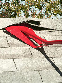 Tear-off with roofing shovel