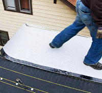 Roll out roofing