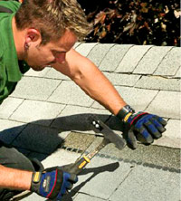 Install replacement shingles