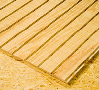 Rough-sawn plywood