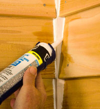Apply caulk to joints