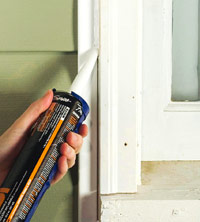 Apply caulk