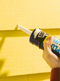 Fill holes with caulk