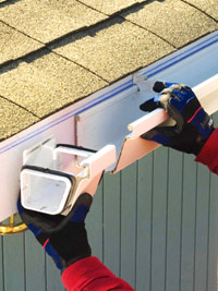 Slip joints onto gutters