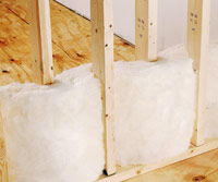 Insulation between studs