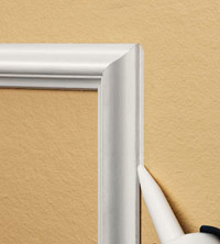 Fill gaps with painters caulk