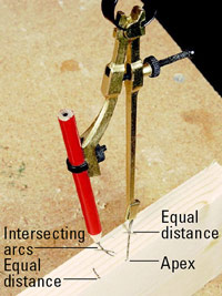 Mark distance with compass