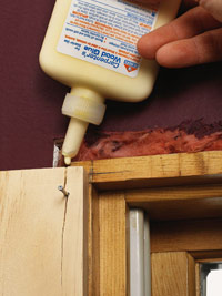 Adding wood glue