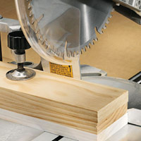 Minimizing Tearout, Stack-cutting board with mitersaw