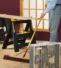 When to apply finish, Sweep floor