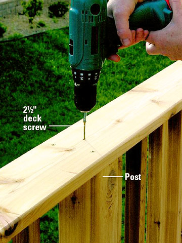 Installing Deck Railing - Sloped Site Decks - How to Design & Build a ...