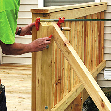 stair railing sloped site decks how to design build a deck diy