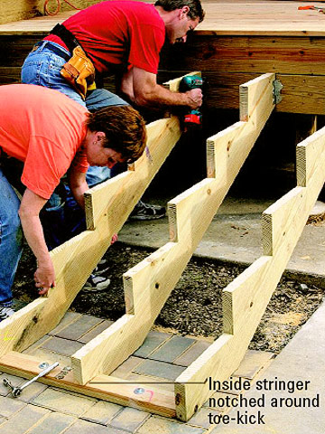 Building Deep And Wide Stairs Multi Level Decks How To