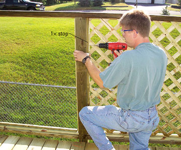 How To Build A Deck Lattice Screen