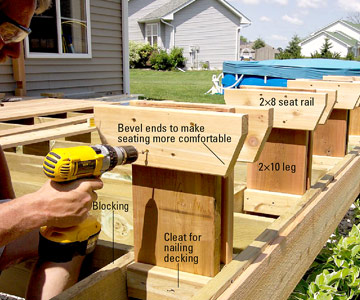Woodworking built in deck bench seat plans PDF Free Download