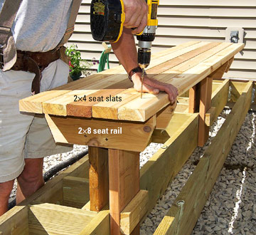 Making Built-in Benches for Your Deck - Custom Touches - How to ...