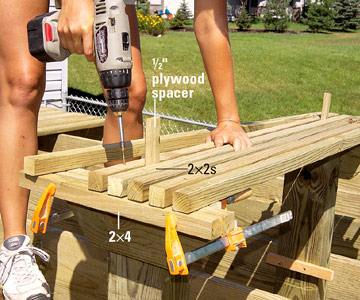 Making Built In Benches For Your Deck Custom Touches