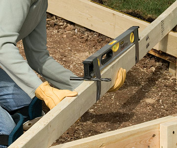 Building Forms For A Patio Or Walk ...