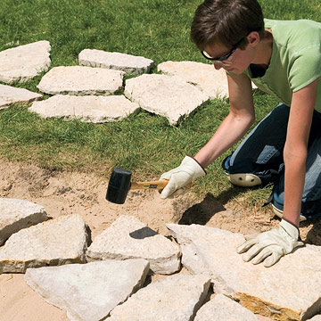 Bed Stones With Rubber Mallet ...