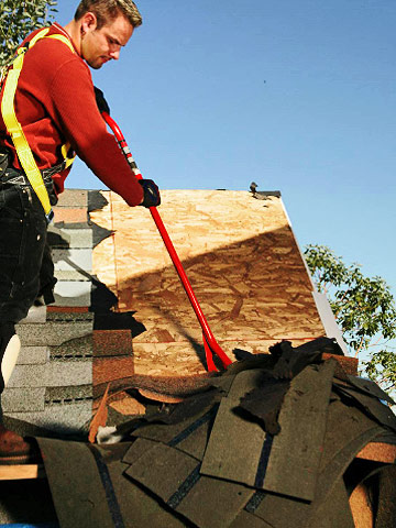 Tearing Off Old Shingles ...