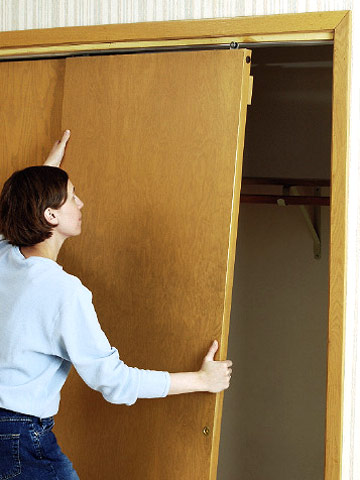 Installing Bypass Doors How To Install House Doors Diy