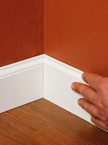 Installing Baseboards - How to Install Baseboard Molding ...