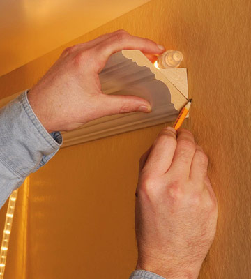 Light up crown molding