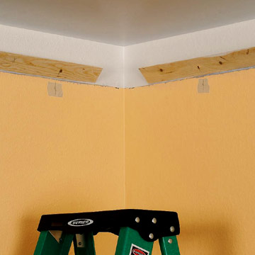 Installing Crown Molding with Uplights How to Cut Install