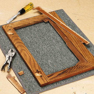 Changing a Wood Panel to Glass - Project Ideas - Carpentry ...