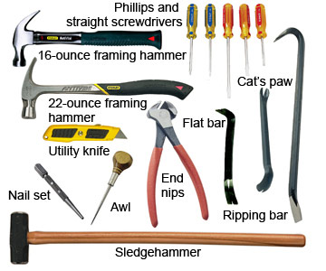 woodwork tools list