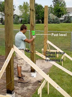 Setting And Cutting Posts Deck Building How To Design