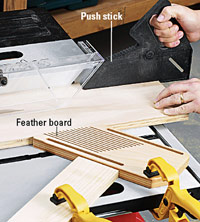 Ripping on a tablesaw