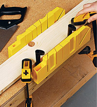 Miter box setup