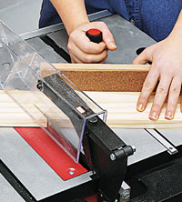 Set gauge on tablesaw