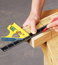 Measure and mark for tenon length