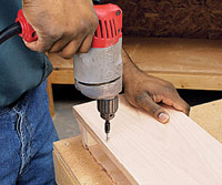 Drill countersunk holes