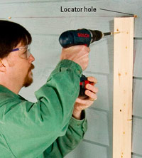 Drill locater holes