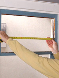 Measure width of opening
