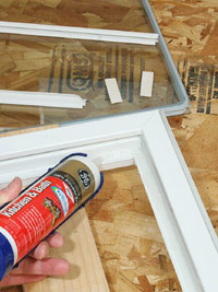 Apply bead of silicone sealant