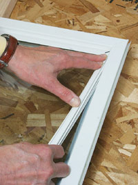 Set pane in place