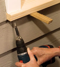 Attach sill to jambs