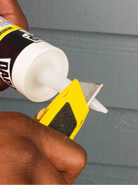 Cut caulk tip