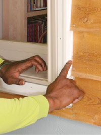 Smooth caulk with finger